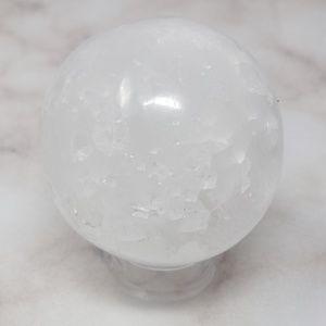 White Howlite Crystal Sphere